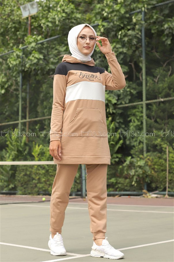 Tunic and Pants Mink - 2813