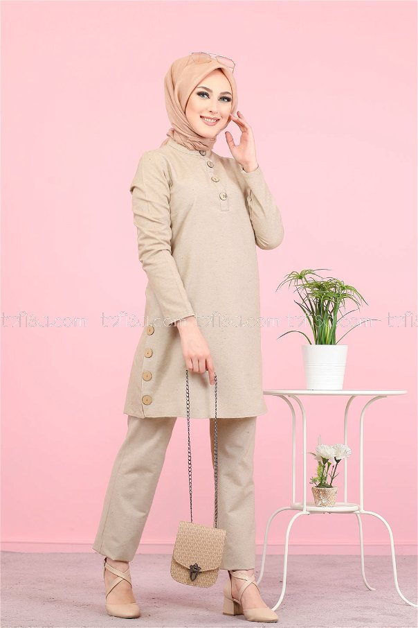 Tunic and Pants Mink - 3014
