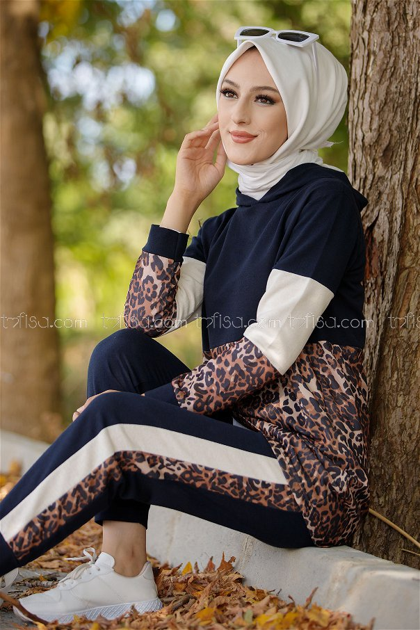 Tunic and Pants Navy Blue - 1361