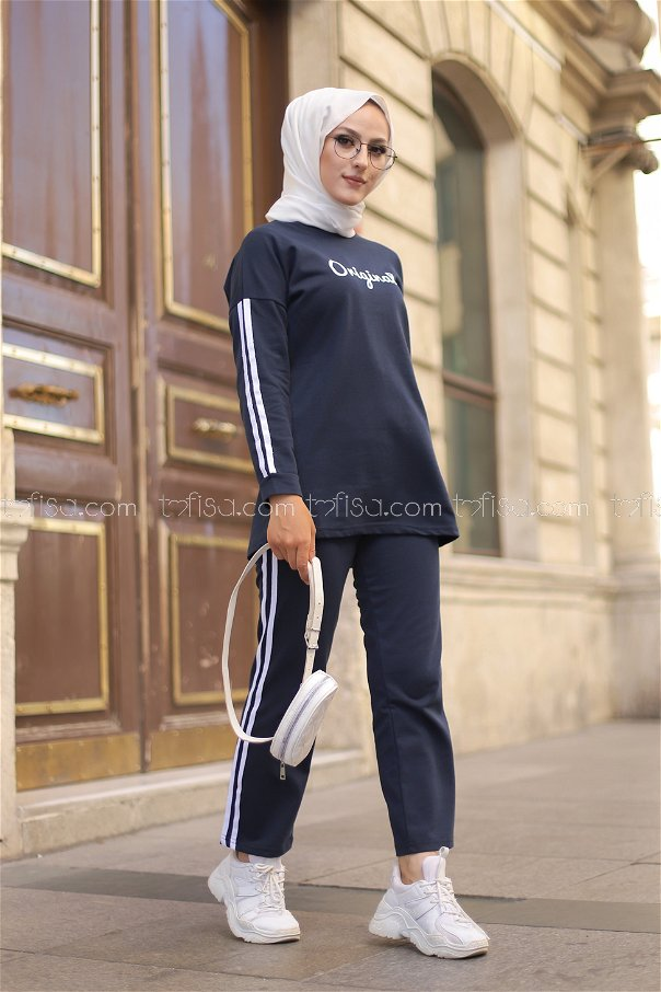 Tunic and Pants Navy Blue - 8401