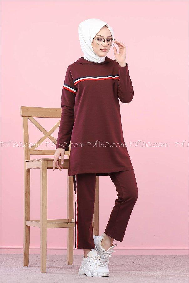 Tunic and Pants Purple - 2796