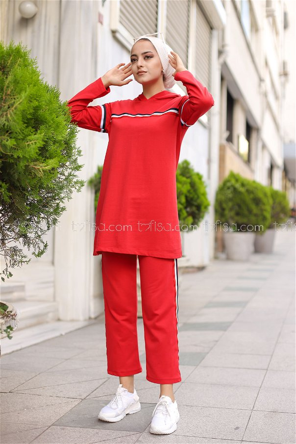 Tunic and Pants Red - 2796