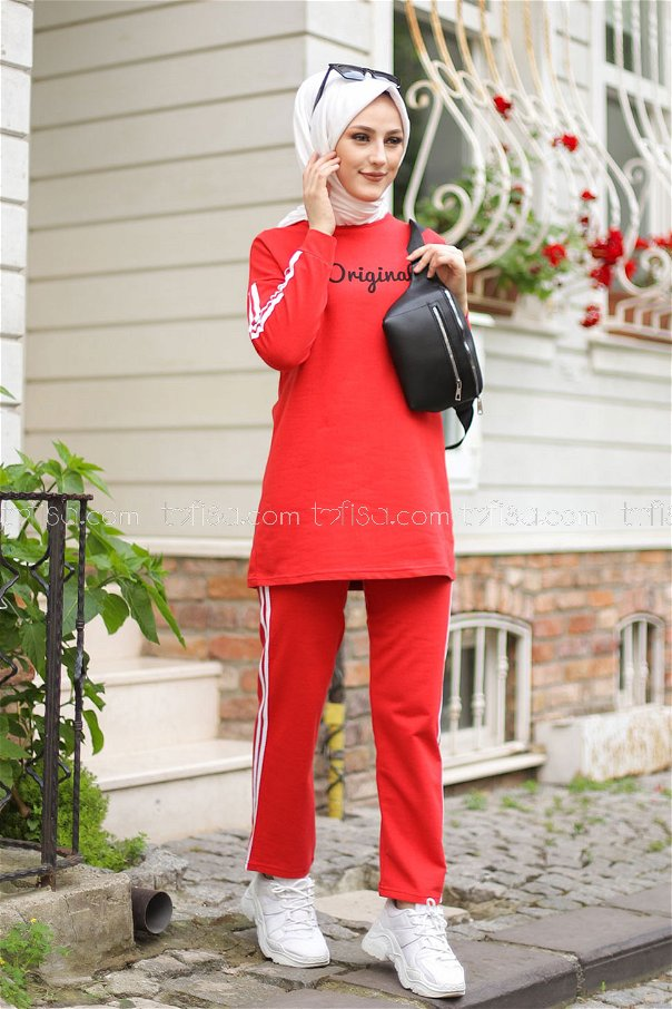 Tunic and Pants Red - 8401