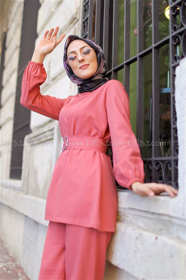 Tunic and Pants Rose - 1366
