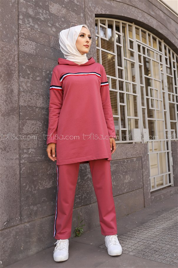 Tunic and Pants Rose - 2796