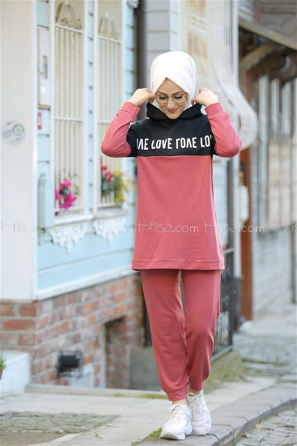 Tunic and Pants Rose - 8397