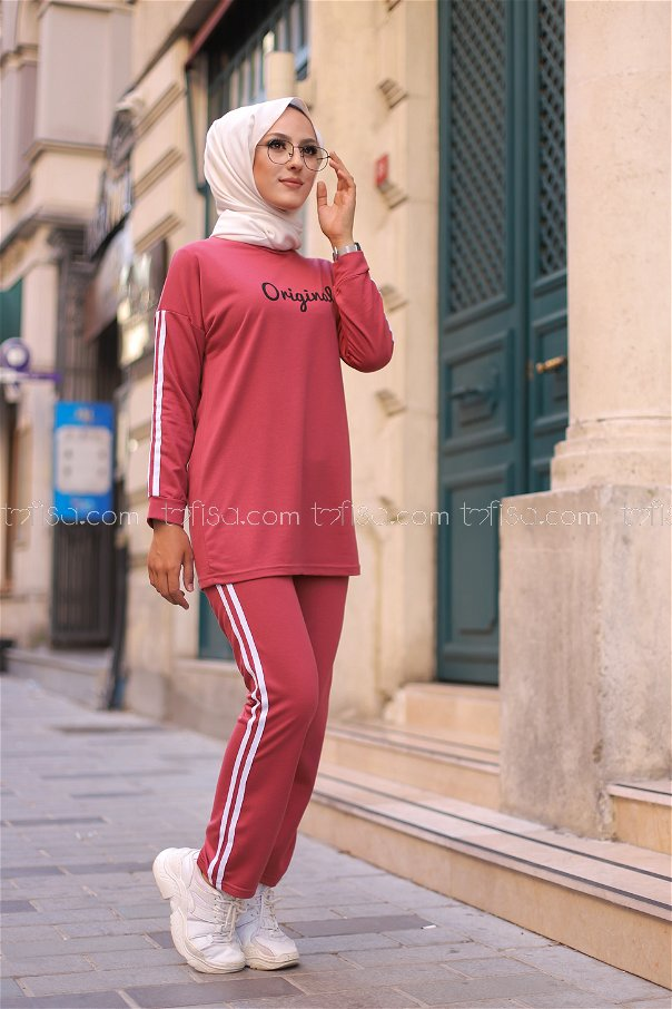 Tunic and Pants rose - 8401