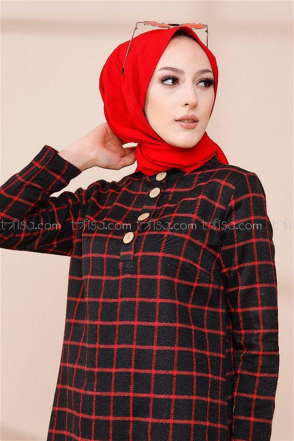 Tunic Black Red - 3306