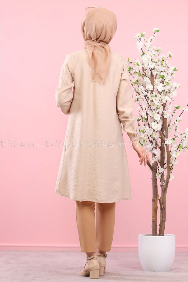Tunic Button Detailed Mink - 3021
