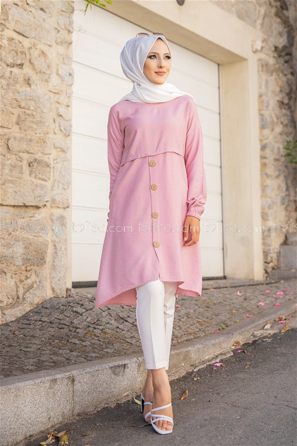 Tunic Button Detailed Rose - 3021
