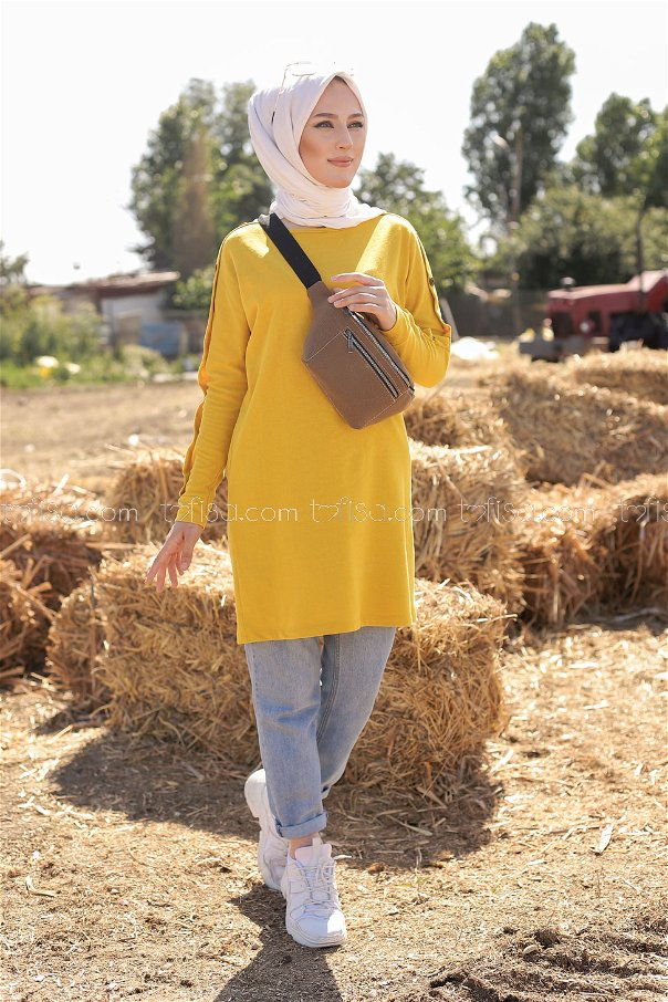 Tunic Button Detailed Yellow - 2811