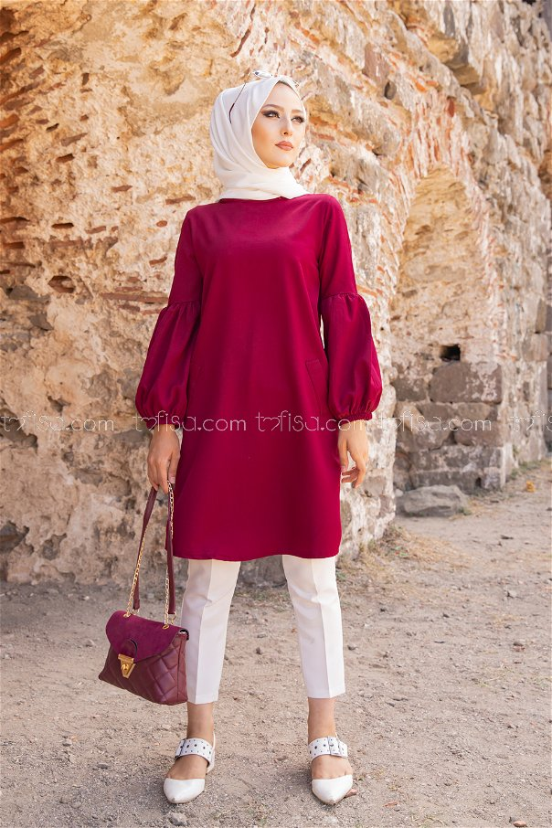 Tunic Dark Claret Red -3026