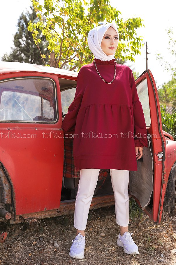 Tunic Dark Claret Red - 3079