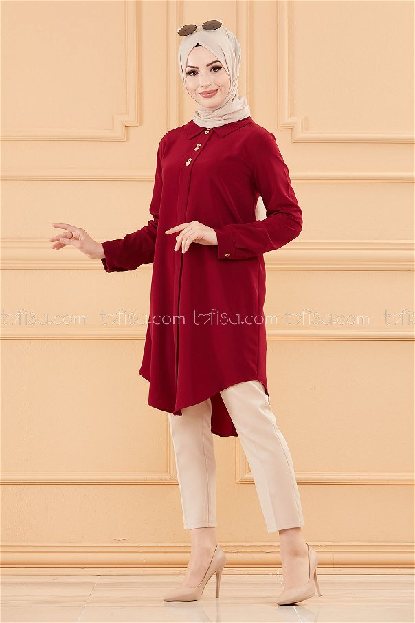 Tunic DARK Claret RED - 3650