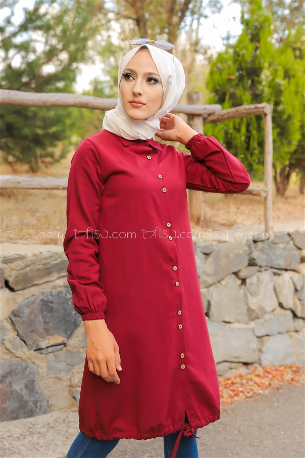 Tunic Dark Claret Red - 8359