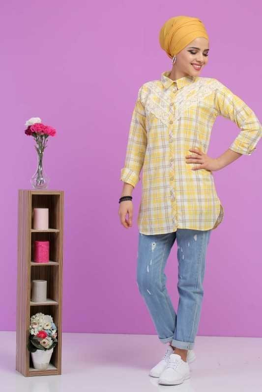 Tunic detils Lace Yellow - 02 6825
