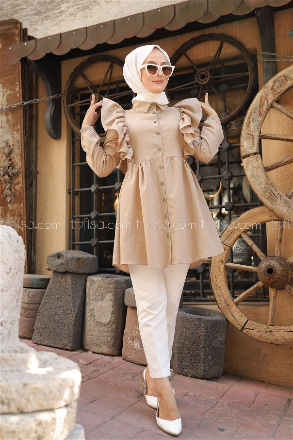 Tunic Frilly Beige - 3126