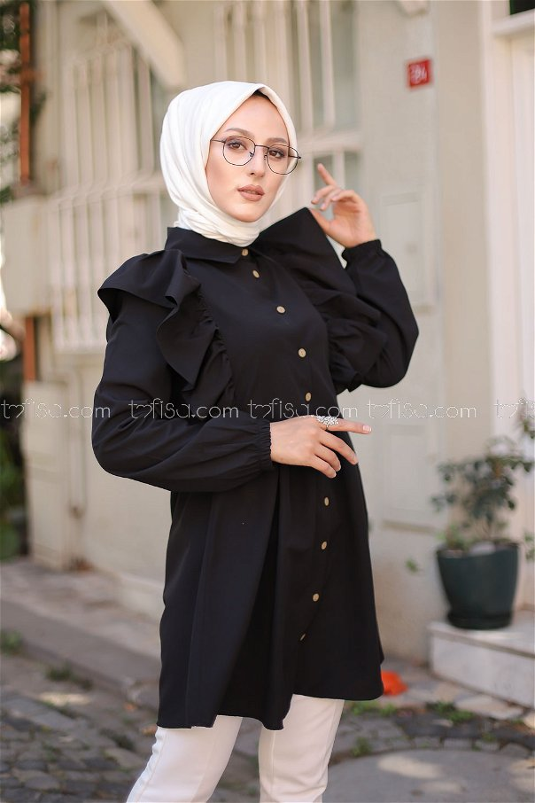 Tunic Frilly Black - 3126