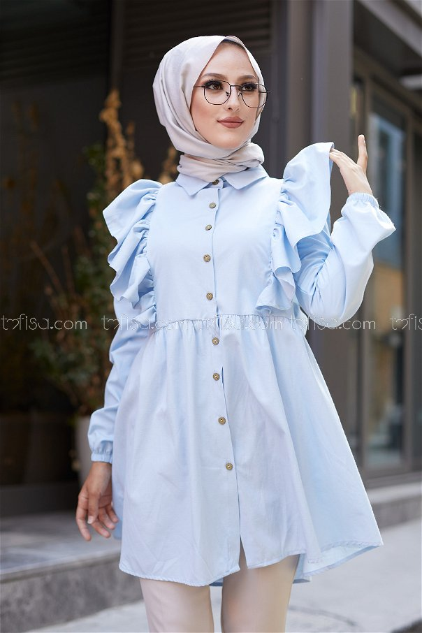 Tunic Frilly Light Blue - 3126