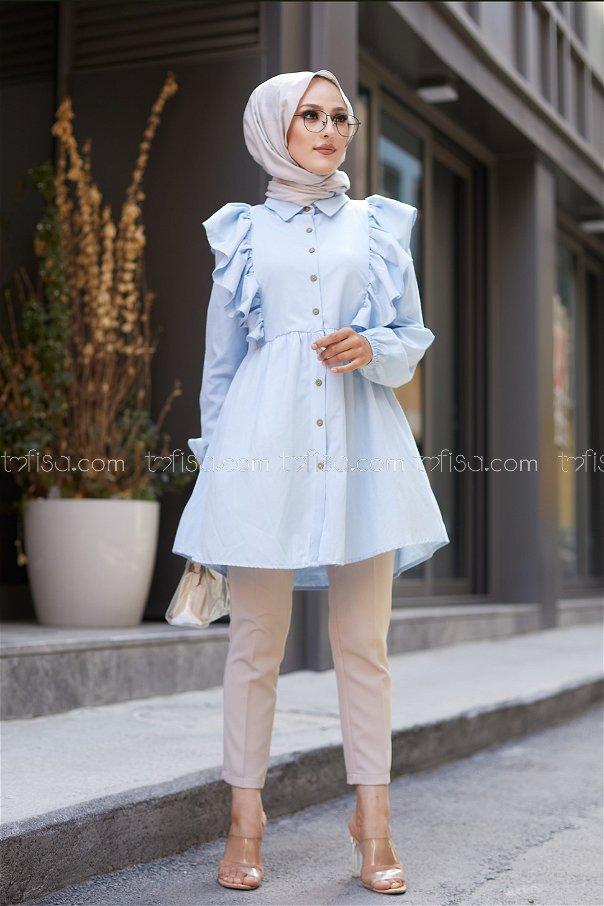 Tunic Frilly Light Blue - 3126