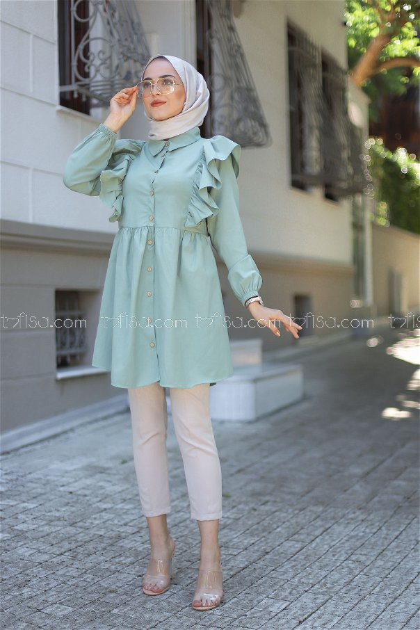 Tunic Frilly Mint - 3126