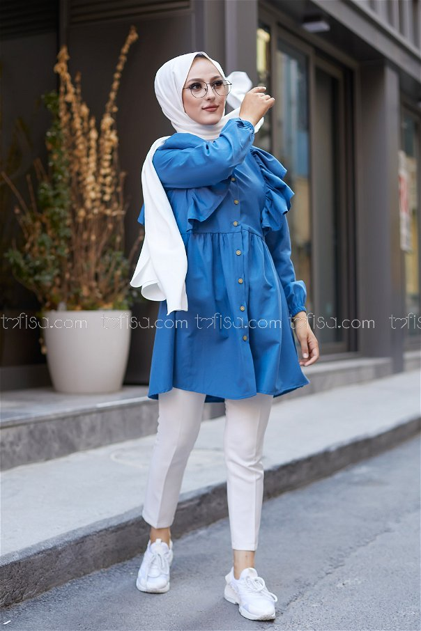 Tunic Frilly Oil - 3126