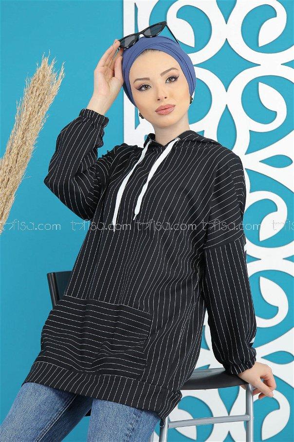 Tunic Hooded black - 4108