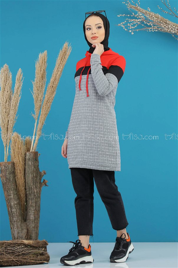 Tunic hooded gray - 4105