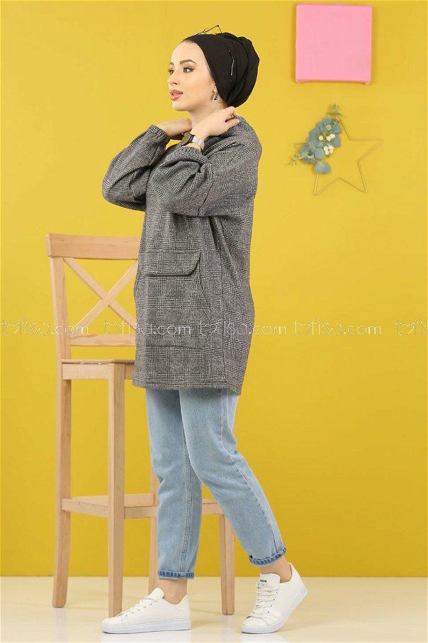 Tunic Hooded gray - 5230