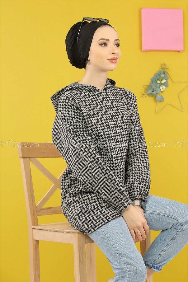 Tunic Hooded gray - 5231