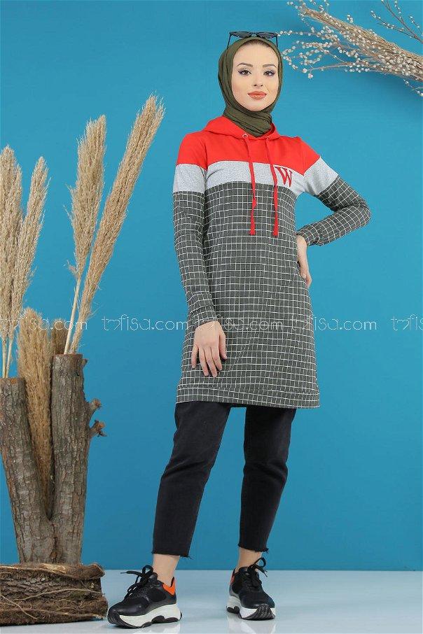 Tunic hooded khaki - 4105