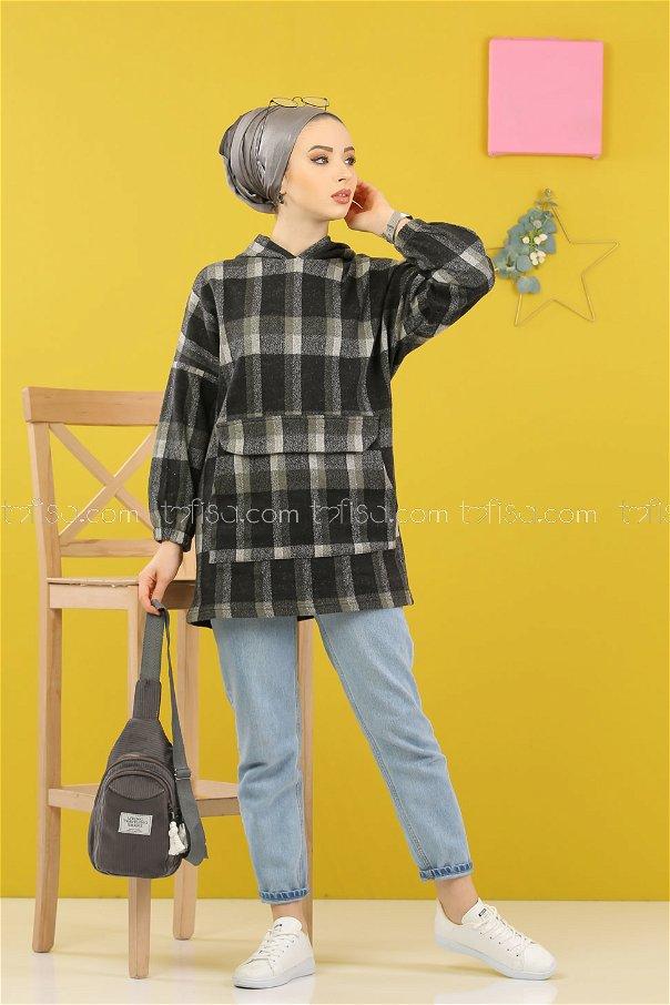 Tunic Hooded khaki - 5232