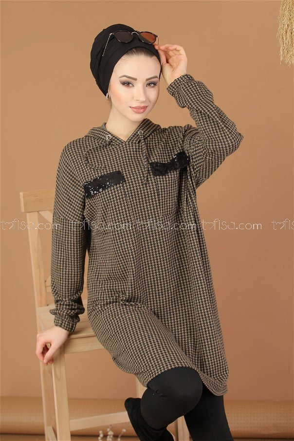 Tunic Hooded mink - 8205