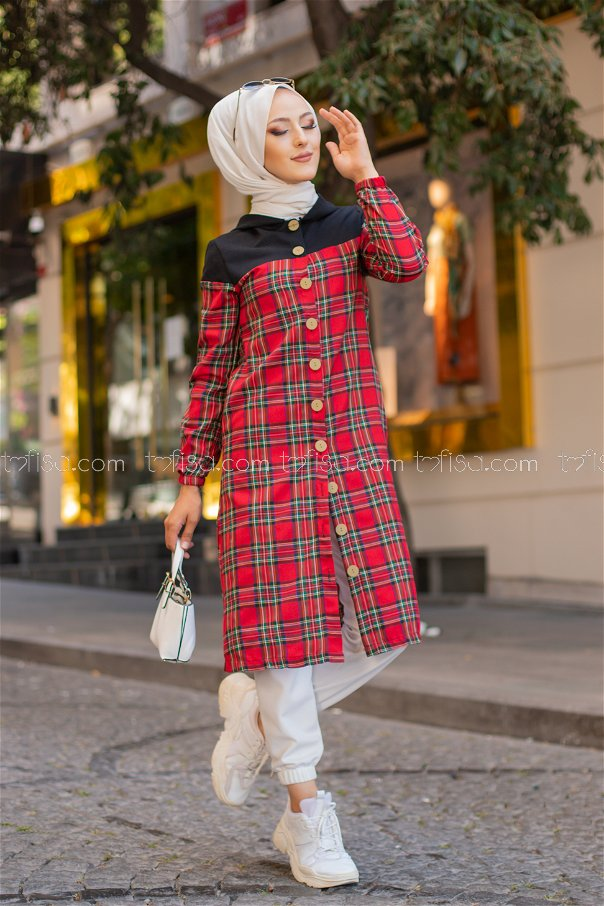 Tunic Hooded Red - 3264