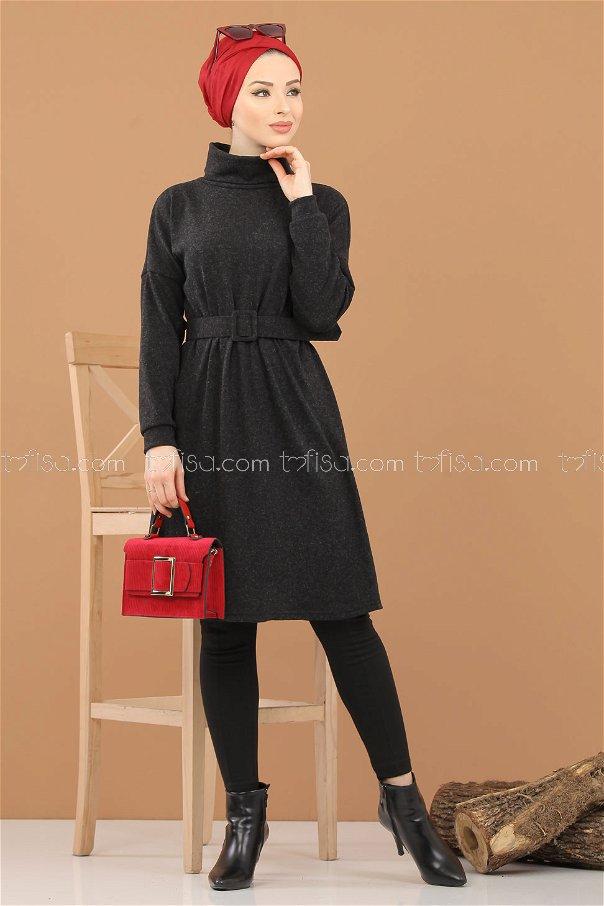 Tunic Knitwear belt black - 5248