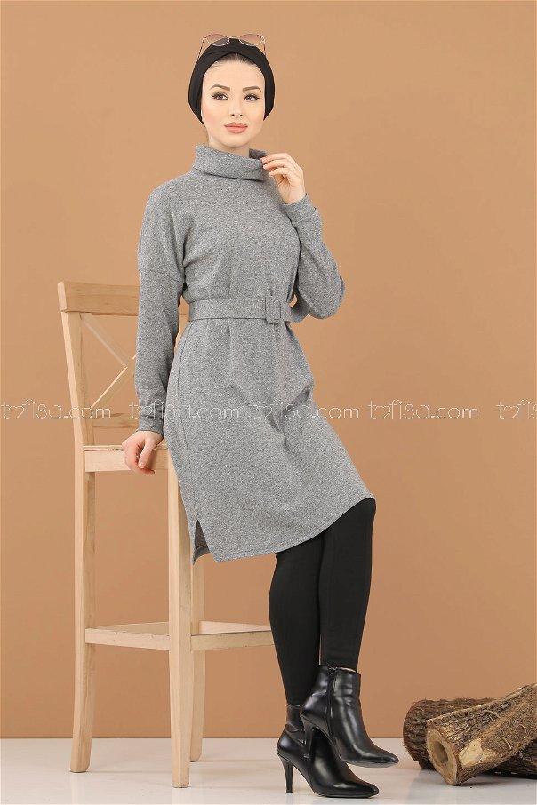 Tunic Knitwear belt gray - 5248