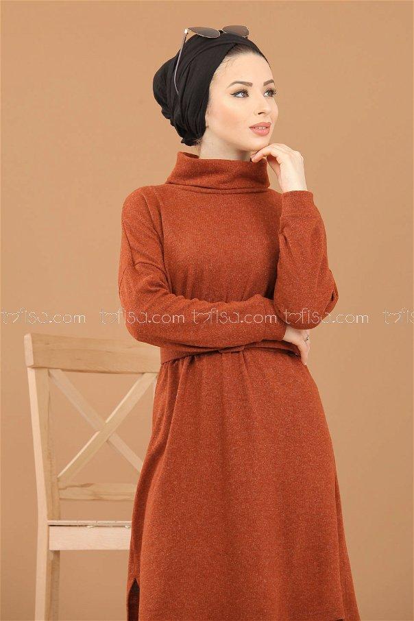 Tunic Knitwear belt Orange - 5248