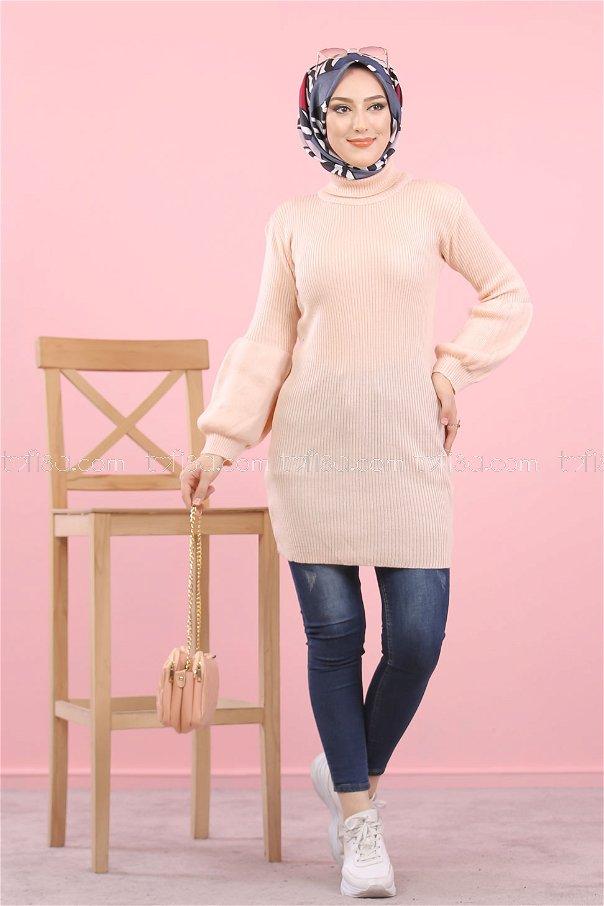 Tunic Knitwear Neck collar Light Powder - 8232