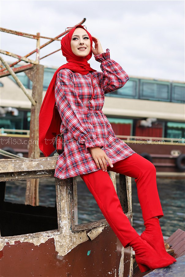 Tunic Navy Blue Red - 3299