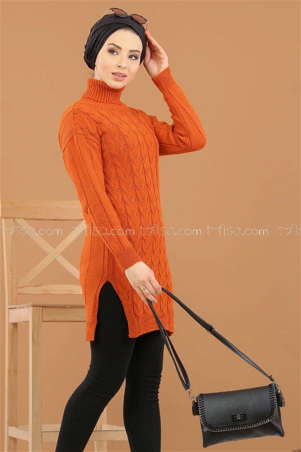 Tunic Neck collar orange - 8318