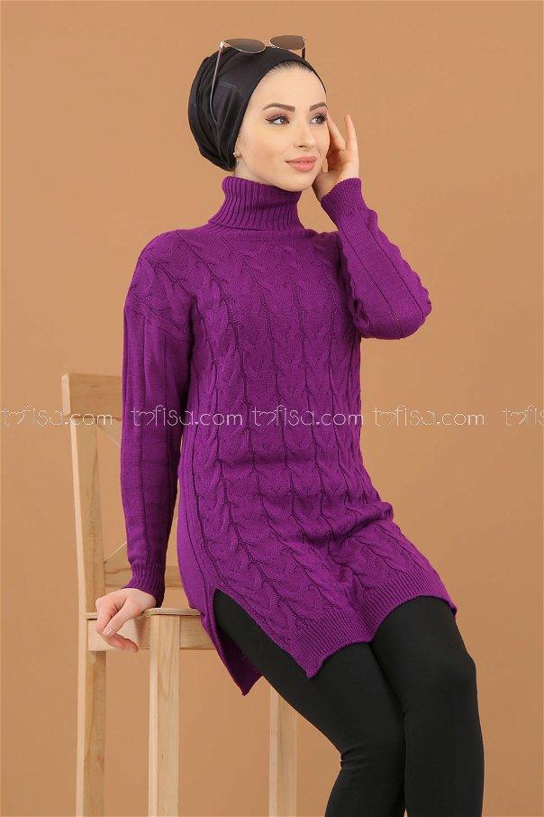 Tunic Neck collar Purple - 8318