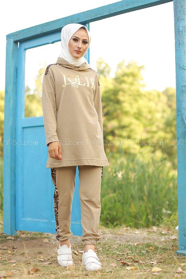 Tunic Pant Beige - 8328
