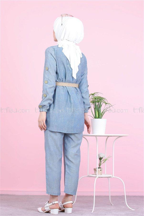 Tunic Pant Belt Blue - 2792