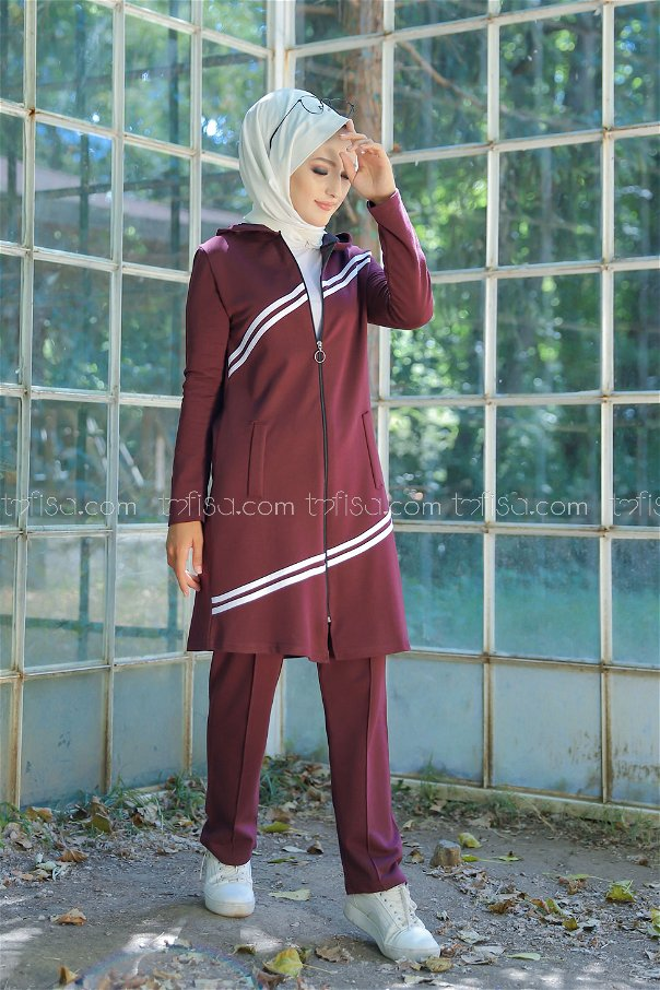 Tunic Pant Claret Red - 4117