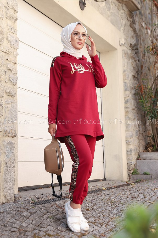 Tunic Pant Claret Red - 8328