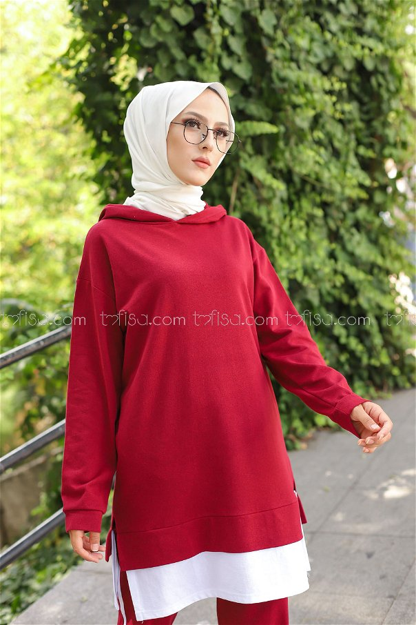 Tunic Pant Claret Red - 8330