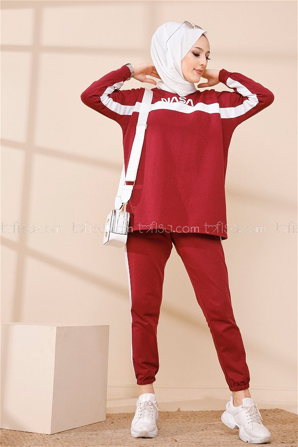 Tunic Pant Claret Red - 8412