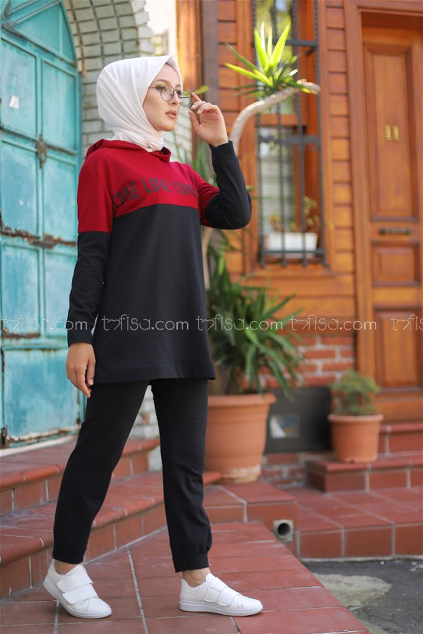 Tunic Pant Claret Red - 8548