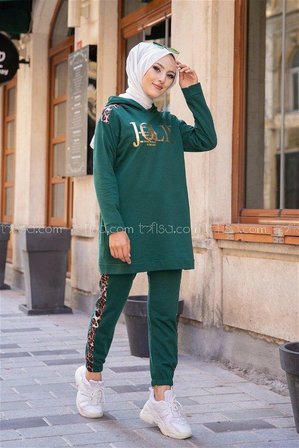Tunic Pant Dark Green - 8328