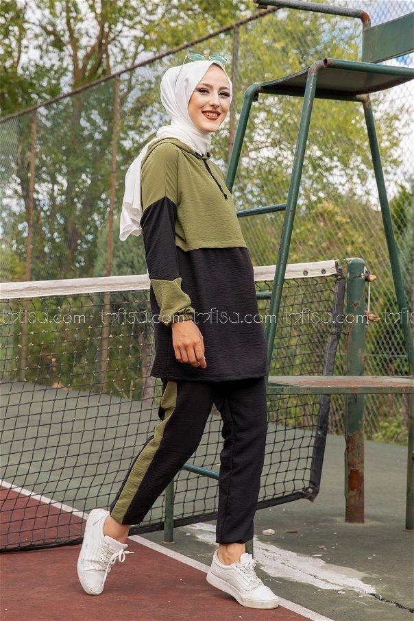Tunic Pant Khaki Black - 3261
